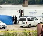En la imagen el lugar donde fue encontrado el cuerpo sin vida de Tina Fontaine   y en el recuadro una foto de la joven