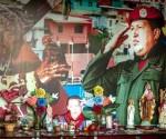 """Detalle de la capilla """"Santo Hugo Chávez del 23"""" este 1 de septiembre de 2014, ubicada en el sector popular 23 de enero, en Caracas (Venezuela). EFE"""