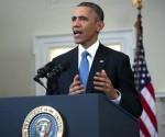 El presidente estadounidense, Barack Obama, se dirige a la nación desde la Casa Blanca, Washington, Estados Unidos hoy 17 de diciembre de 2014. EFE