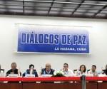 Vista general de la conferencia de prensa ofrecida por el último grupo de víctimas del conflicto en Colombia, en el marco de las negociaciones de paz que se celebran en La Habana (Cuba). EFE
