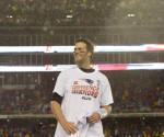 La presencia por sexta vez en el partido del Super Bowl que se jugará este domingo hace que los Patriots, con el mariscal de campo Tom Brady (imagen) al frente, se mantengan como los favoritos en las apuestas de Las Vegas para el choque contra los Seahawks de Seattle. EFE/Archivo