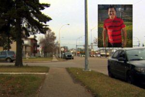 Fotografía del lugar donde Leonardo Fabio Durán Ibañez fue asesinado en Edmonton.