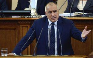 El primer ministro búlgaro, Boyko Borisov, en el Parlamento Búlgaro en Sofía. EFE/Archivo