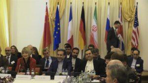 Reunión celebrada en Viena el pasado 10 de diciembre de la comisión formada por representantes de seis grandes potencias e Irán, para revisar la puesta en marcha del acuerdo nuclear con la República Islámica, en vigor desde hace justo un año. EFE/Archivo